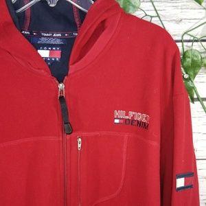 VINTAGE 🛍 Tommy Hilfiger fleece zip up hoodie XL
